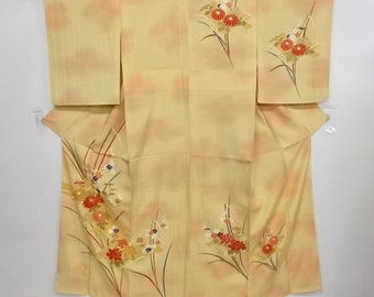 Japanese Kimono / Antique Kimono / Peony & Kiku With Ume Blossom