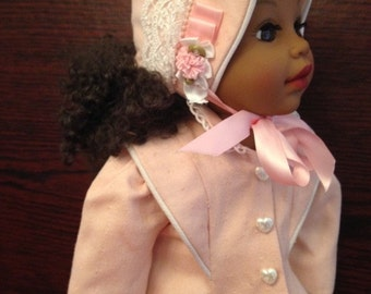"""Coat and Bonnet made to fit 18"""" dolls like """"American Girl"""""""