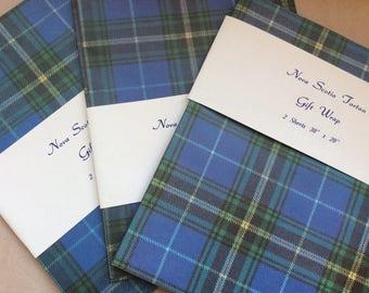 Vintage gift wrap, Nova Scotia tartan wrapping paper
