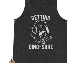 Getting Dino Sore Workout Jersey Tank Top for Men