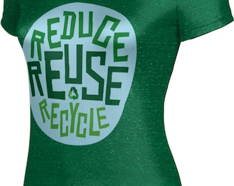 ProSphere Women's Recycle Reduce and Reuse Causes Heather Tech Tee
