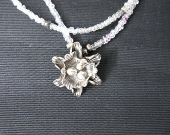 Bird nest necklace silver 925