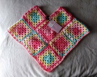 Toddler granny square poncho.