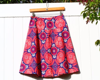 Semi Gathered A-Line skirt, Bazaar in Orchid, New Joel Dewberry Flora, Create your perfect skirt, Custom Made, All Sizes XS to Plus