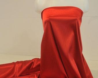 "Stretch Satin Red fabric 52"" wide...bridal, lingerie , home decor, pajama's, sleep wear, formal wear"