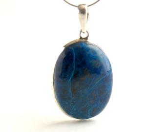 Chrysocolla Shattuckite Pendant Sterling Silver Pendant With Natural Chrysocolla Shattuckite Turquoise Color Inclusion Necklace
