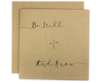 Be Still And Know Greeting Card | Made In Australia