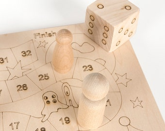 Counting Board Game, educational kids' wood game