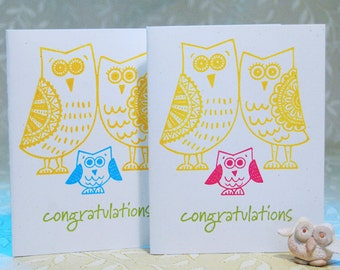 Baby Owl New Baby Congratulations Card