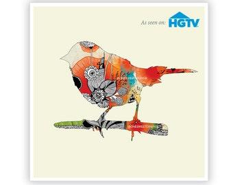 Little Bird by Iveta Abolina -  Floral Illustration Print