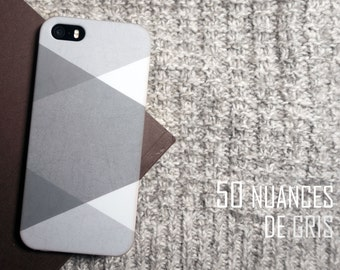 """Case for Iphone 5 / 5 S/SE or Iphone 6 / 6s """"50 shades of gray"""""""