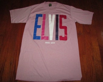 Extremely Rare 70s Elvis T shirt jerzees by russell memoriblia rock n roll