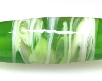 Handmade Glass Bead/Focal Bead/Lampwork/Green Handmade Glass Bead