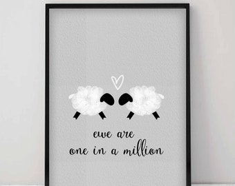 One in a million sheep print
