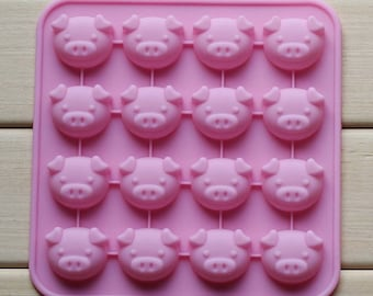 16-cavity Lovely Pig Cake Mold Mould Silicone Mold Biscuit Mold Chocolate Mold Soap Mold