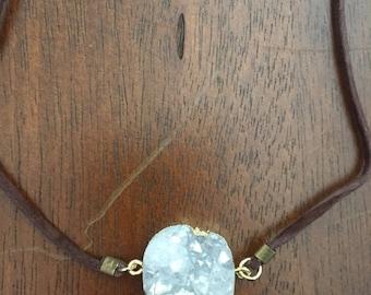 Crystal quartz choker