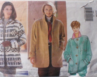 Women's Unlined Jacket Sewing Pattern - Butterick 3640 - Size XS-S-M (6 - 14), Bust 30 1/2 - 36
