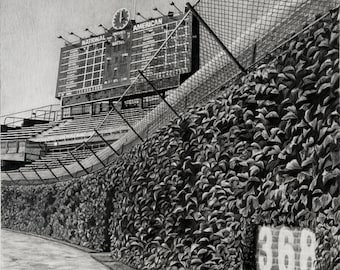 """Chicago Cubs - Wrigley Field - """"Let's Play Two"""" print"""