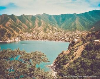 Colombia Prints, Coastal Prints, Coastal Photography, Beach Home Decor, Beach Photography,  Beach Decor, Cottage Decor, South America
