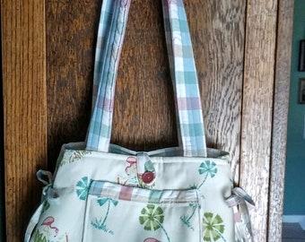 Flamingo fun bow purse