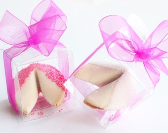 50 Pastel Pink Sugar and Pink Sprinkles Fortune Cookies Party Wedding Bridal Shower Favors Individually Boxed