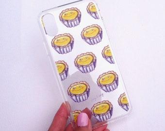 Smiley Eggtart Face / Hong Kong Street Food - Clear iPhone Case