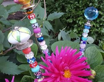 "Decorative Garden Plant Stakes ""Bling"", Fairy Wand, Yard decor, Garden ornaments, Yard Art"