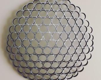 """Steel """"golf ball"""" Wall Sculpture"""