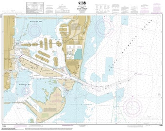 Miami Harbor - 2014 Map Old Nautical Chart - Florida Harbors East 547