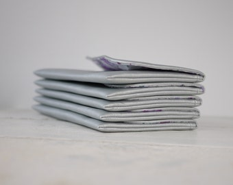 Set of simple silver clutches | silver bridesmaids purses | silver bridesmaids wedding clutches