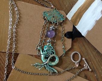 Mermaid siren necklace
