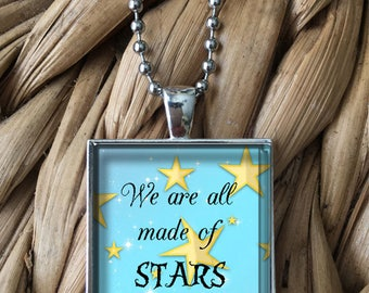 We are All Made of Stars Girls Teens Pendant Necklace
