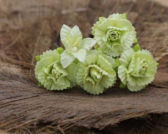 Mint Green Mulberry Paper Flower Hair Pins , Bridal Hair Pins, Hair Bobby Pins,U pins,Prom,Bridal Hair Accessories (FL379)