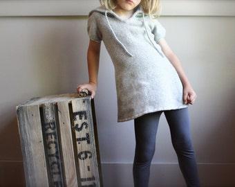 Girls Wool Dress, Size 6 Girls, Girls Felted Wool Dress, Felted Wool Tunic, Upcycled Felted Wool dress for girl