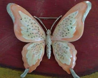 Vintage Trifari Enamel Butterfly Pin