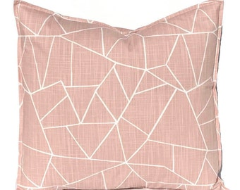 Blush Pink Pillow Covers - Throw Pillow Covers - Cut Glass Pillow Cover - Pink Cushion Cover - Blush Bedroom Decor - Sofa Pillow Covers
