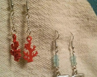 Coral, Whales or Happy Hour Beach Earings