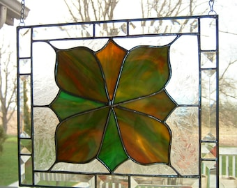 Beveled Stained Glass Panel Sun Catcher