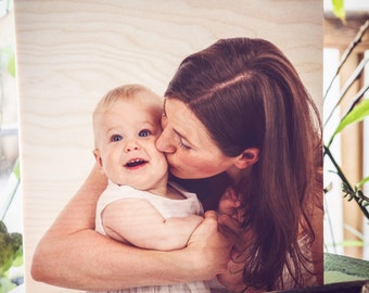 Photo Gift Mom, Mothers Day Personalized, Photo On Wood, Personalized Mom, Mothers Day Gift, Daughter To Mom, Print On Wood, Mom Picture