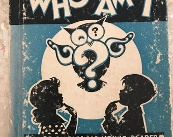 Charming Silhouette Book- Who Am I from 1935