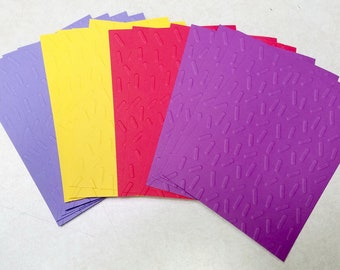 12 SPRINKLE Embossed A2 Card Fronts - Special Request