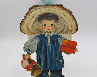 Hallmark Paper Doll Card Unused, Hallmark Land of Make Believe Dolls, No. 8 Little Boy Blue, Hallmark Collectors Paper Doll