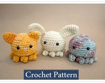 Amigurumi PATTERN Crochet Octopus Pattern with Permission to Sell