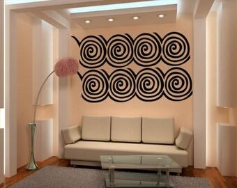 Vinyl Wall Decal Sticker Wall Swirls 1027A