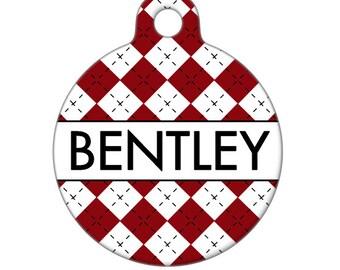 Personalized Pet ID Tag - Bentley Custom Name  Pet Tag, Dog Tag, Cat Tag, Bag Tag, Child Id Tag