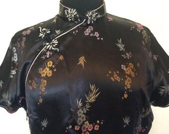 Black Chinese Dress - Med.
