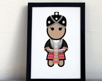 Card 056·F Hmong woman