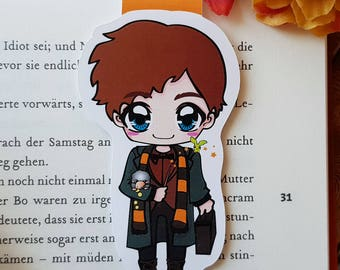"""Magnetic bookmark """"Newt Scamander""""-inspired by Fantastic Beasts by J.K. Rowling"""