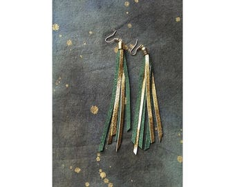 Lucky Leprechaun Fringe Earrings