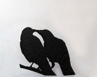 Wedding Cake Topper - Crows in Love wedding cake topper